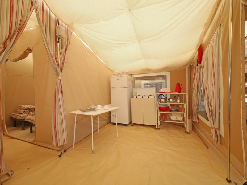 Accommodatie Glamptent keuken