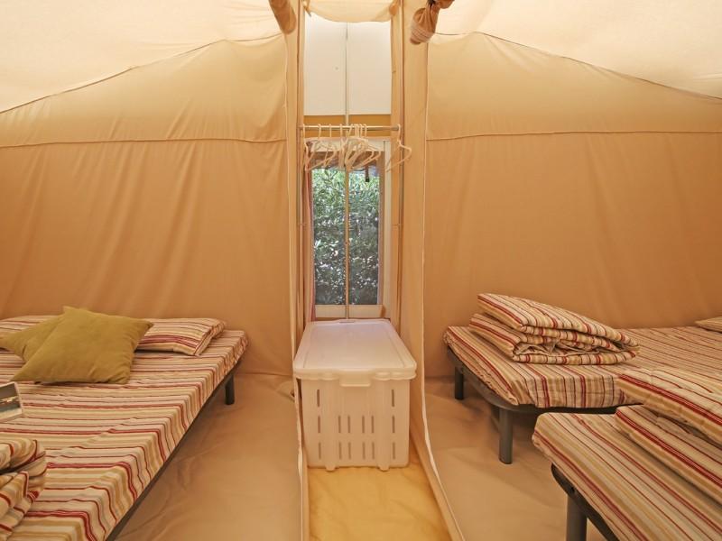 Accommodatie Glamptent slaapkamers