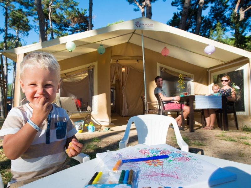 Accommodatie Glamptent familie