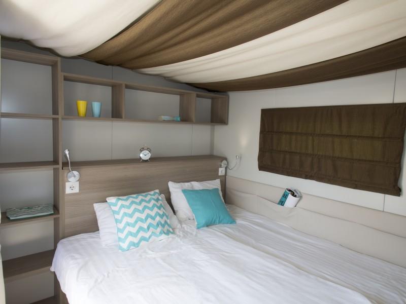 Accommodatie hybridlodge clever slaapkamer