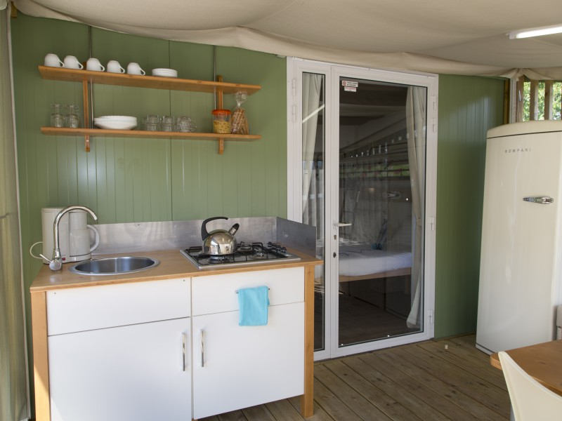 Accommodatie hybridlodge clever keuken