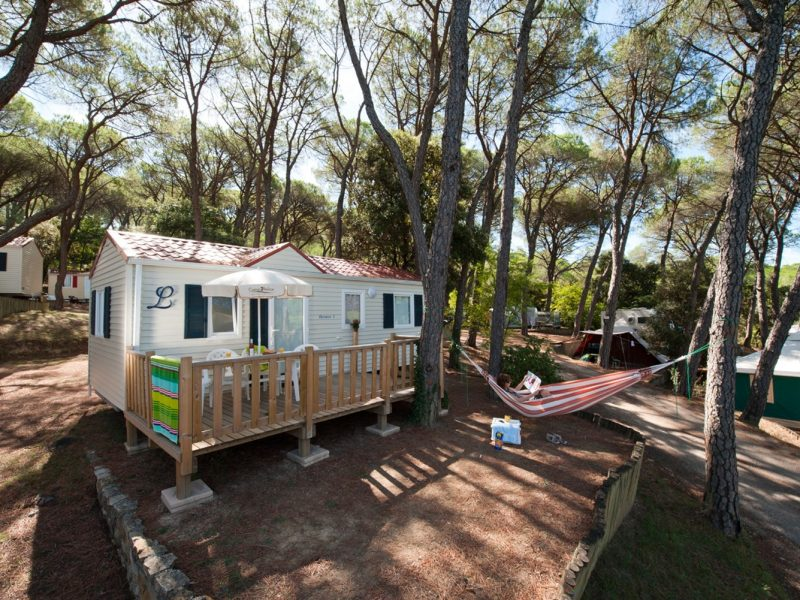 Accommodatie stacaravan op de camping
