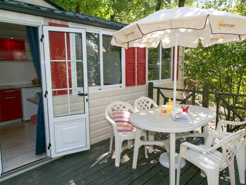 Accommodatie stacaravan veranda selectcamp