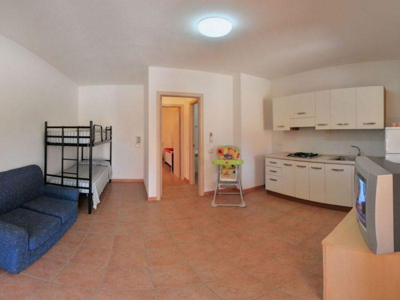 Accommodatie appartement inrichting woon en keukengedeelte