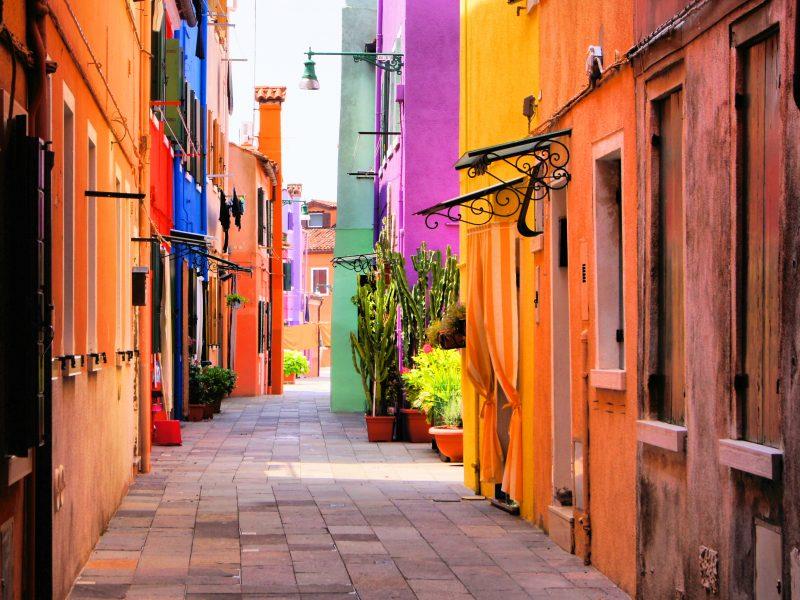 Sardinië kleurrijke straten