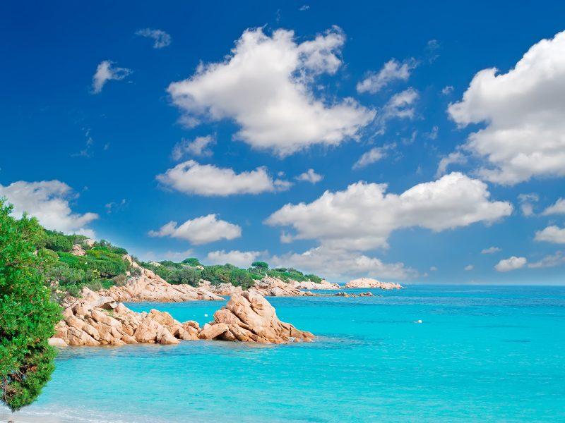 Sardinië rotsen kust zee