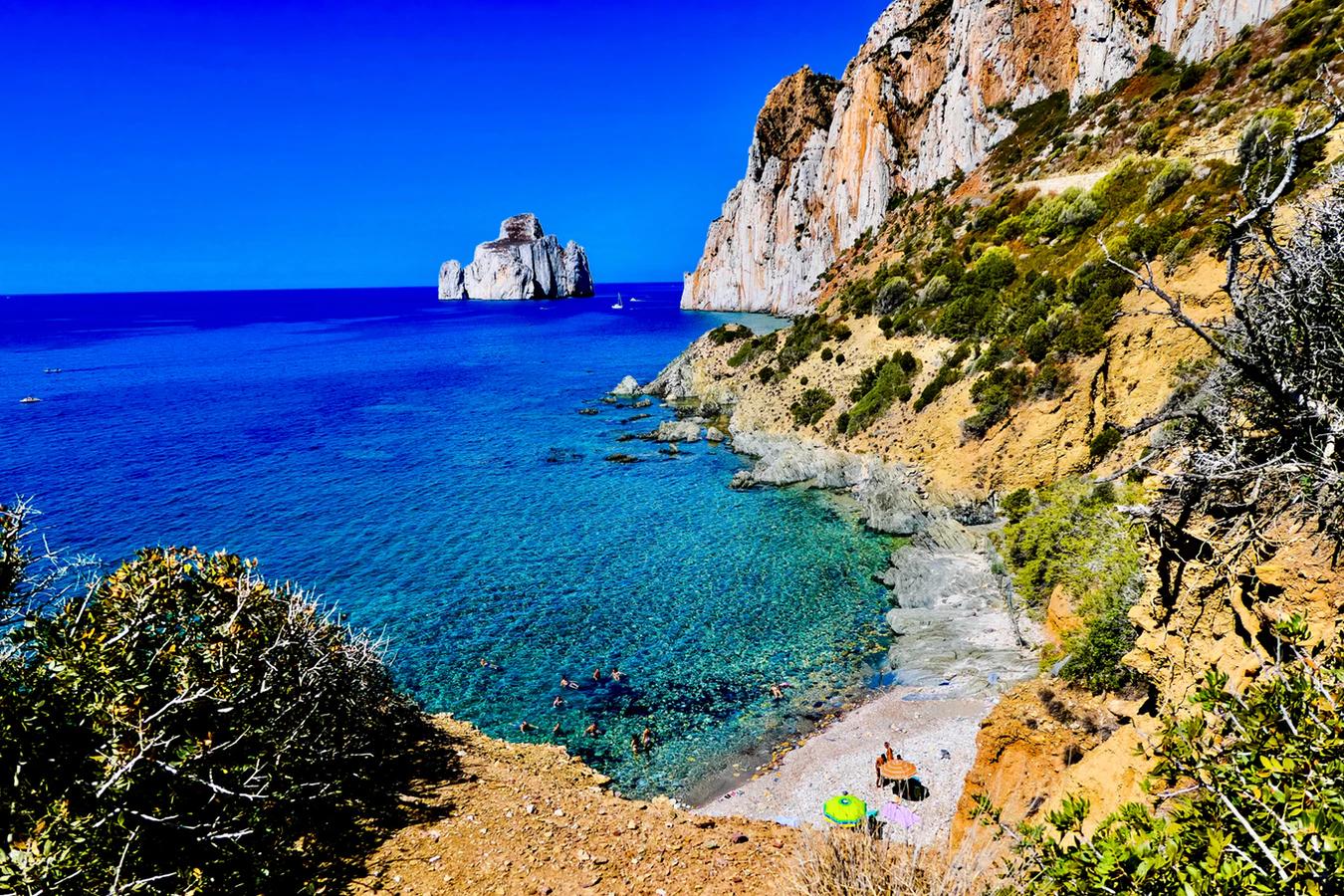 Stranden tijdens een rondreis op Sardinie